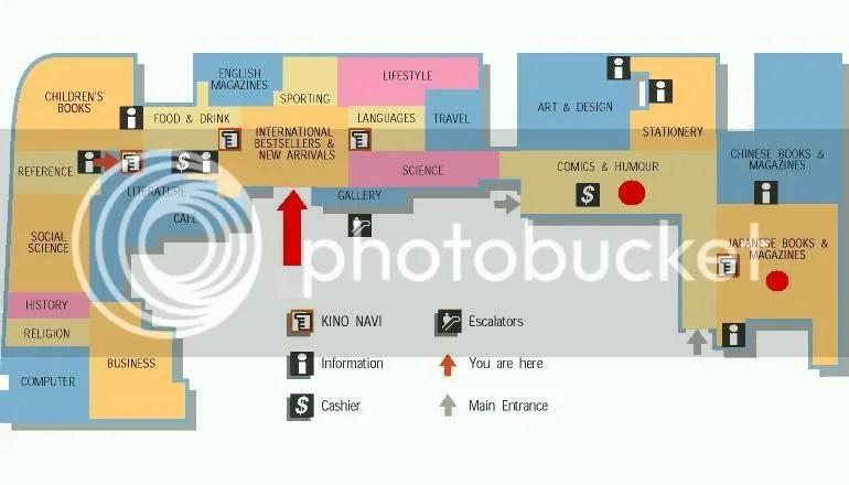Kinokuniya floor plan
