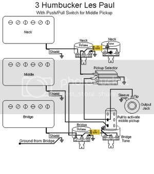 3 Humbucker Les Paul Wiring Question