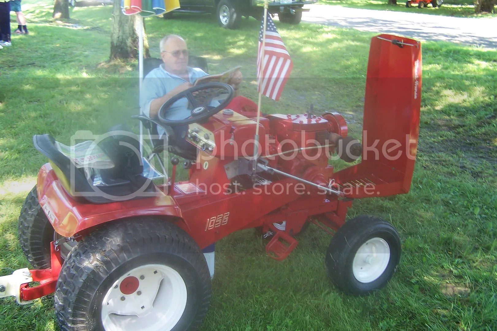 Alan Gish And His 1055 Wheel Horse Tractor He Restored