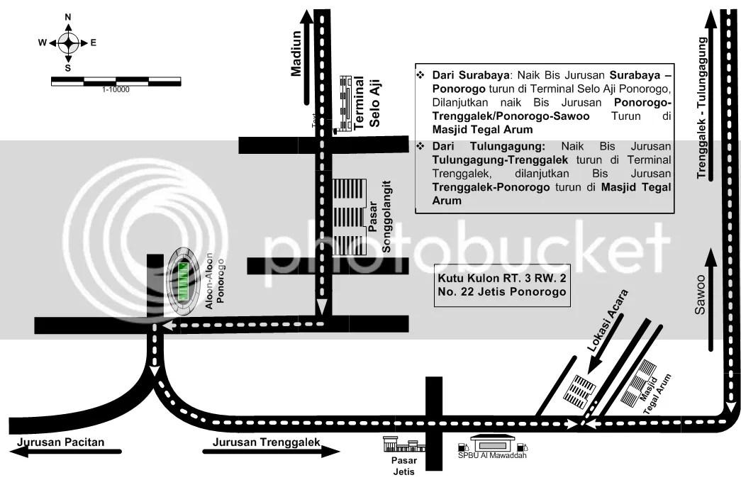 Peta Jalan menuju tempat acara