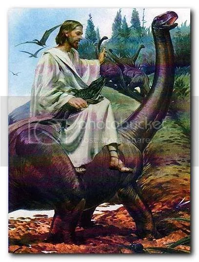 Jesús en dinosaurio
