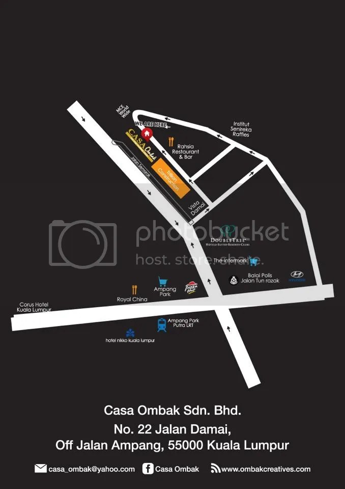 Casa Ombak Map