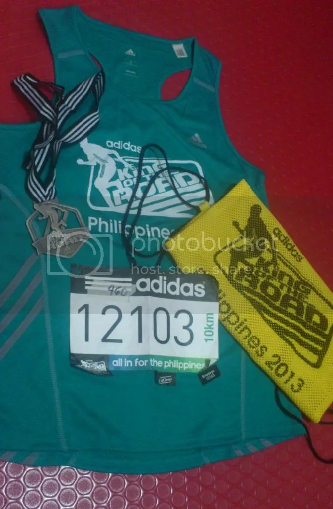Adidas King of the Road singlet and their awesome finisher's medal