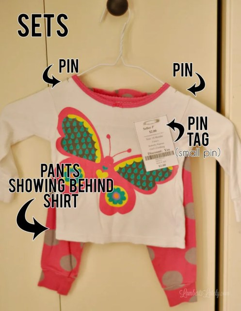 Consignment sale tips || boutique pricing || shop organization || how to pin tags || ideas for kids clothing || tagging || cleaning || treating stains
