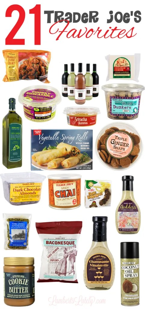 I love this list of Trader Joe's Favorites...great shopping list that has everything from Cookie Butter to Greek Yogurt Guacamole!