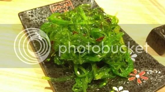 chuka wakame, gohan sushi, japanese food, restaurant, brunei, seria