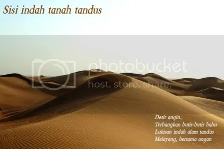 Sisi indah tanah tandus, Foto Gurun Pasir ini kuambil di Dubai, Uni Emirat Arab, tanggal 12 Februari 2012, pukul 17.19 waktu setempat.
