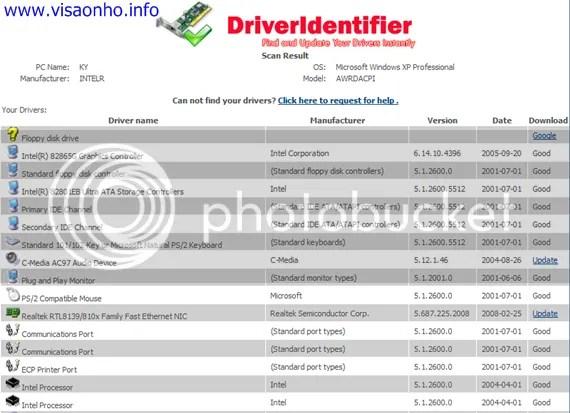 DriverIdentifier: Tìm và cập nhật driver ngay tức thì