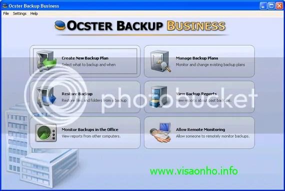 Download Ocster Backup Business 1.0 với key bản quyền miễn phí