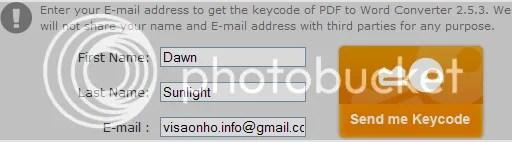 Bản quyền AnyBizSoft PDF to Word Converter miễn phí