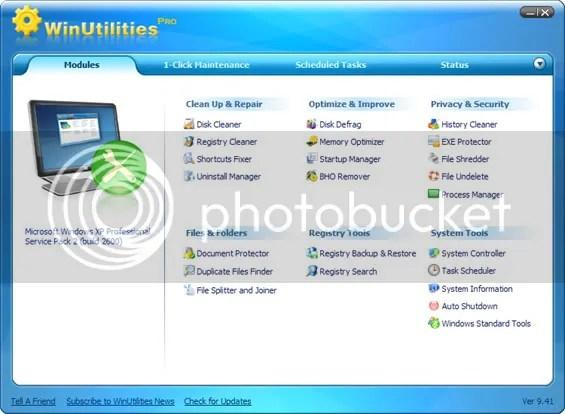 Bản quyền WinUtilities Pro 9.41 miễn phí