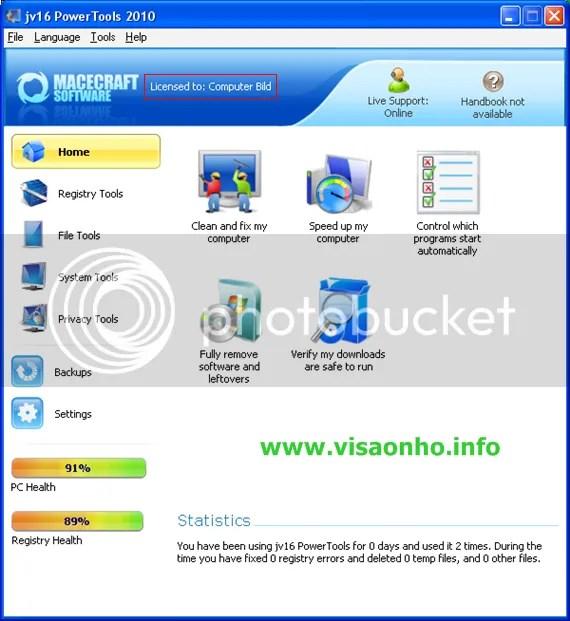 jv16 PowerTools 2010 với key bản quyền miễn phí