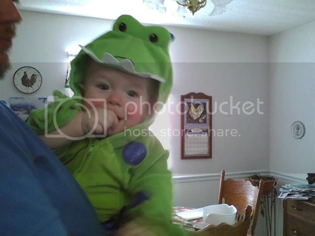 Cutest little Fletch-o-saurus ever!