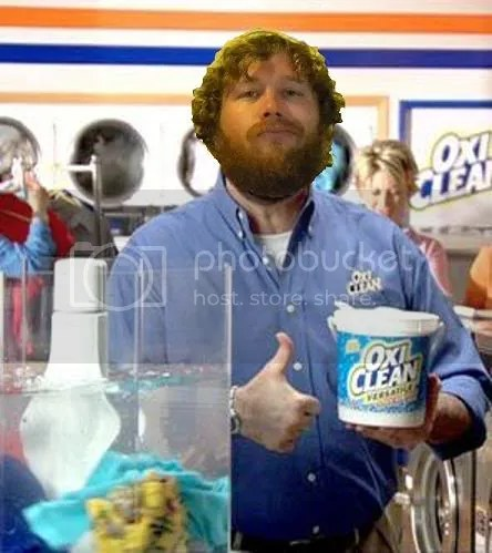 With a little hair gel and beard dye Paul could be the next Billy Mays.
