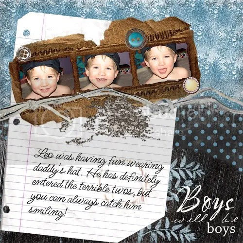 boys scrapbook layout