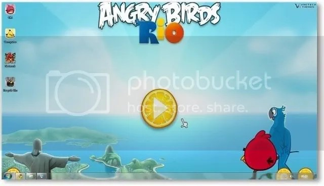 Download theme Angry Birds cho Windows 7