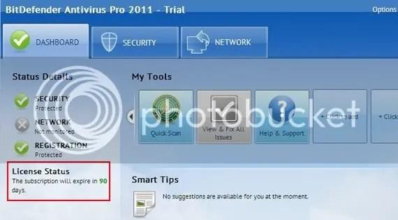 BitDefender Antivirus Pro 2011 miễn phí 3 tháng