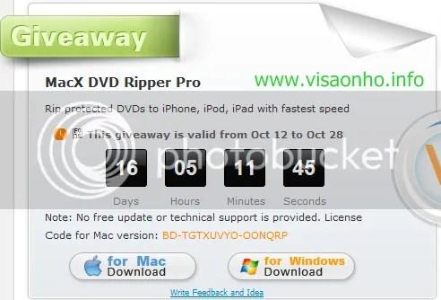 MacX DVD Ripper Pro với key bản quyền miễn phí