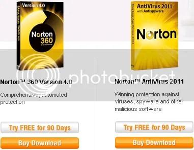 Norton AntiVirus 2011 và Norton Internet Security 2011 với bản quyền OEM 90 ngày miễn phí