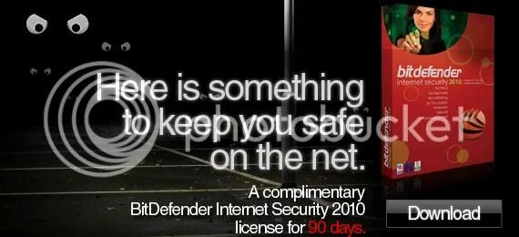 Bản quyền BitDefender Internet Security 2010 miễn phí 90 ngày