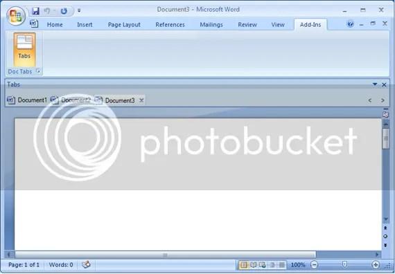 Đưa tính năng tab vào Microsoft Word 2007 và 2010