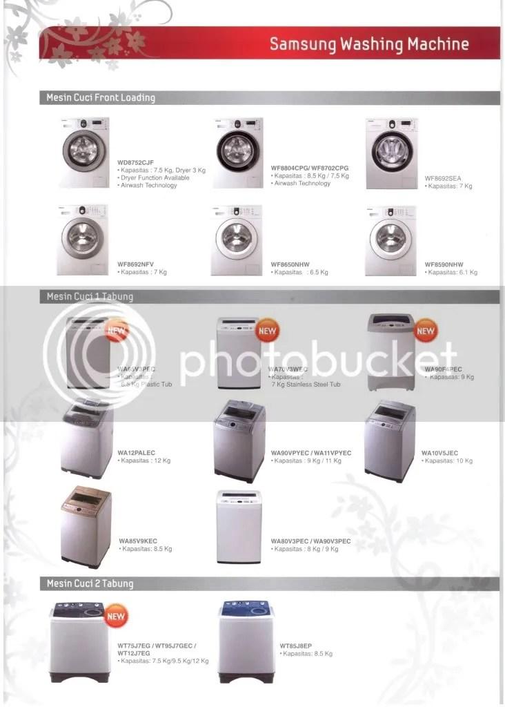 Line Up Produk Mesin Cuci Samsung