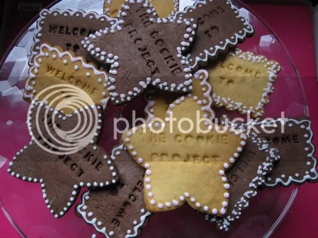 biscotti di pasta frolla decorati con glassa reale bianca e rosa