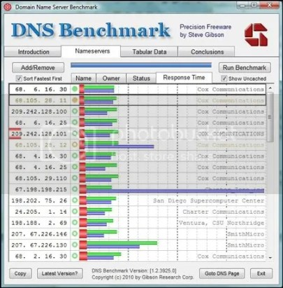 Windows Network DNS Benchmark Tool