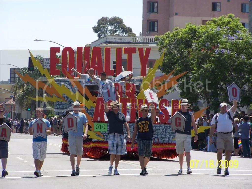 San Diego Prides Activism for Equality float