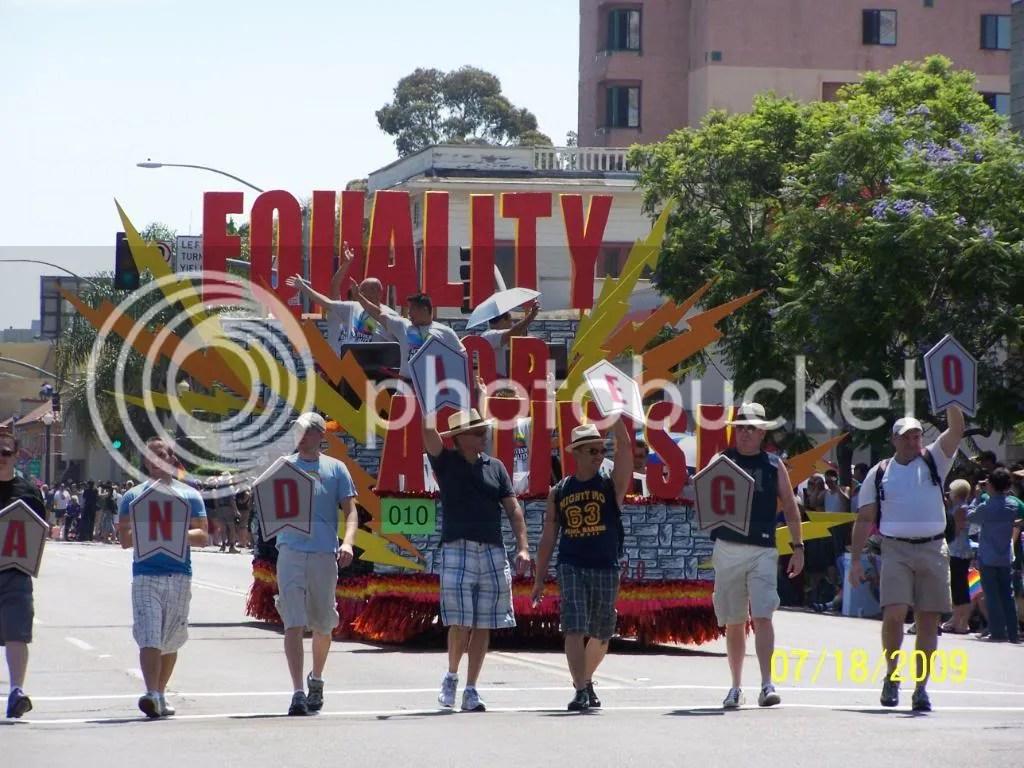San Diego Prides Activism for Equality float