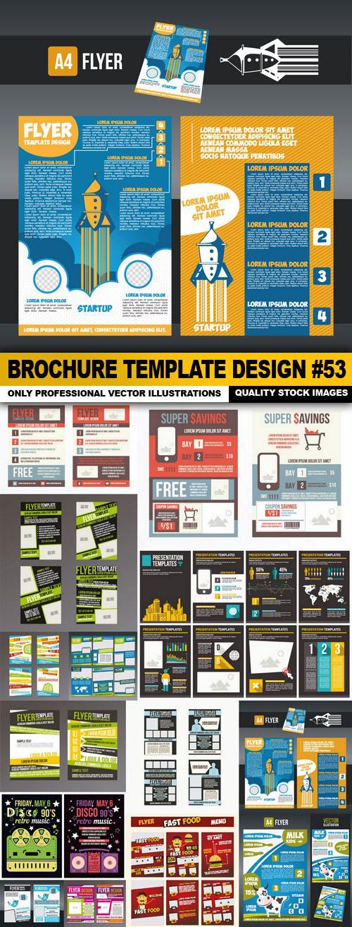 Brochure Template Design #53 - 14 Vector