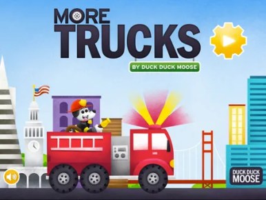 More Trucks iOS app for kids on Cool Mom Tech