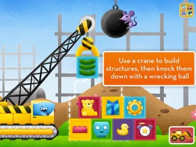 Fun with cranes in the More Trucks app | Cool Mom Tech