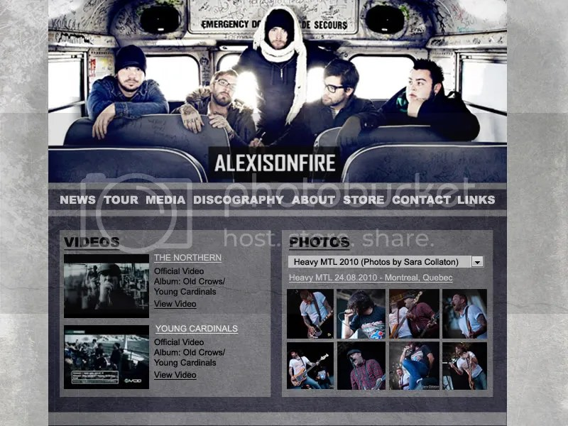 Alexisonfire - Re-designed Website