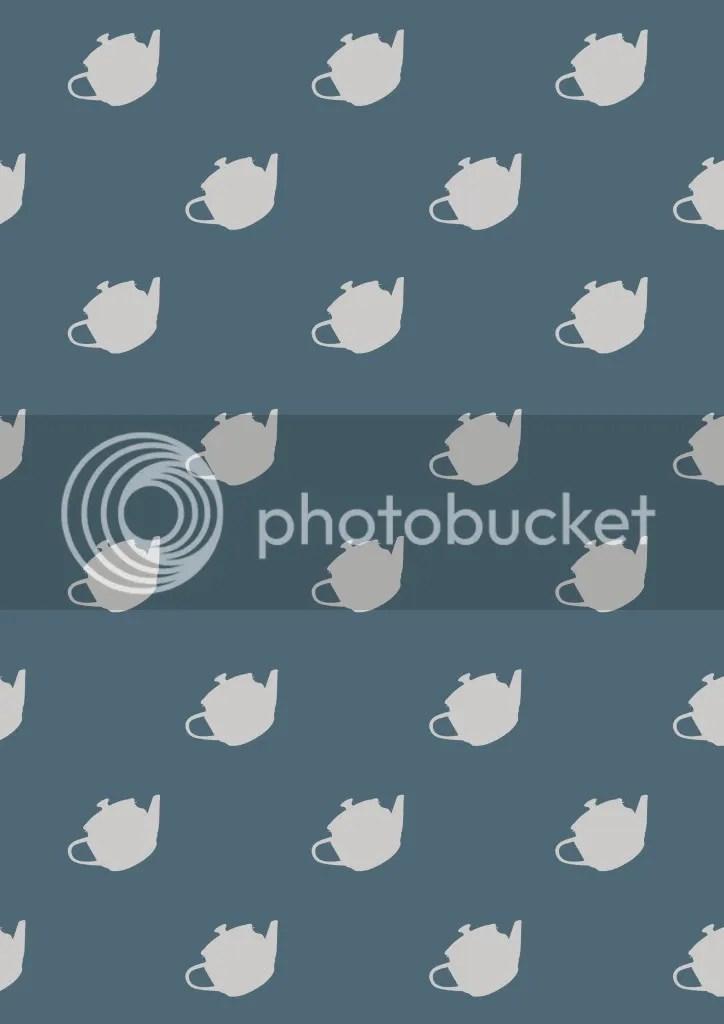Blue Teapot Pattern