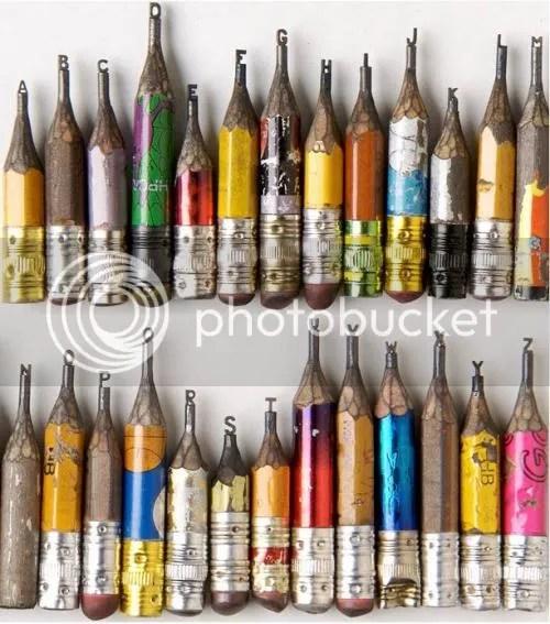 Pencil Lead Alphabet By Dalton Ghetti