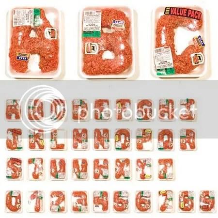 Meat Alphabet by Robert Bolesta