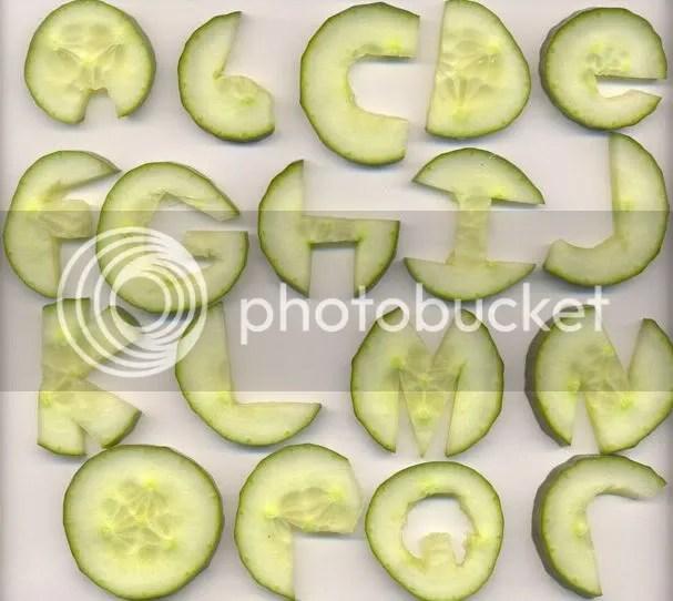 Cucumber Alphabet