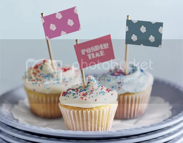 Ponder Time Cupcake Flags