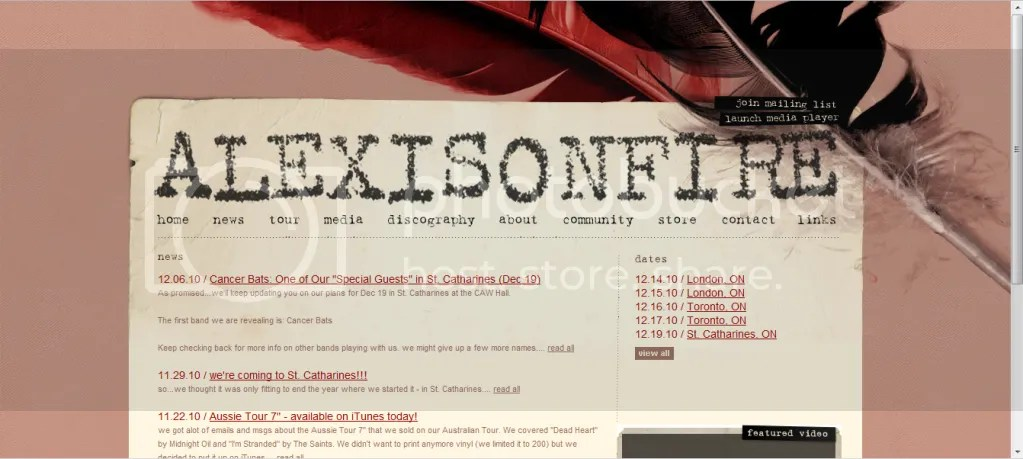 Alexisonfire - Original Website