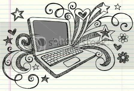 Hand Drawn Laptop By Unknown
