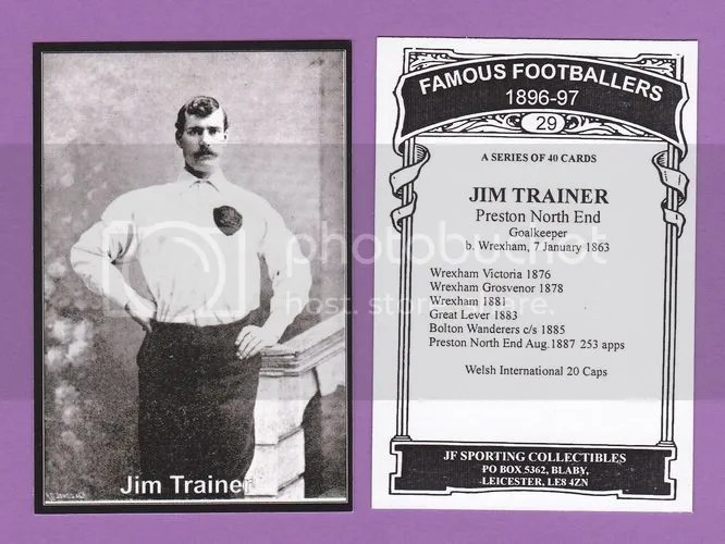 Prince of Keepers: Wrexham goalkeeper Jim Trainer