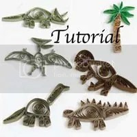 paper quilled dinosaurs tutorial