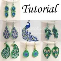 peacock jewelry tutorial