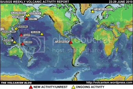 SI/USGS Weekly Volcanic Activity Report 23-29 June 2010