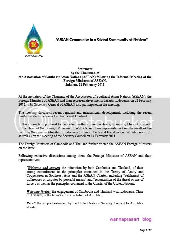 Statement ASEAN