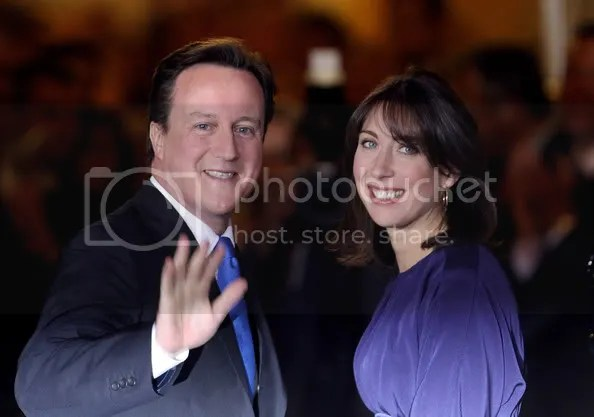 David Cameron Becomes The British Prime Minister In A Coalition Government(Samantha Cameron)