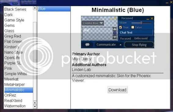 Minimal Blue UI