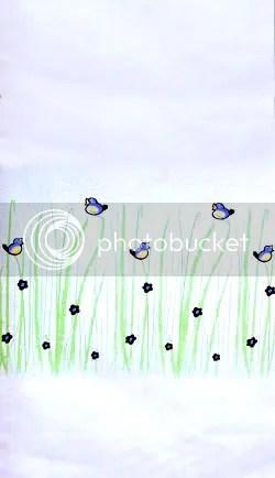 near sea naturals birds in grass organic cotton