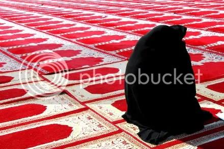 Iranian woman worshiping